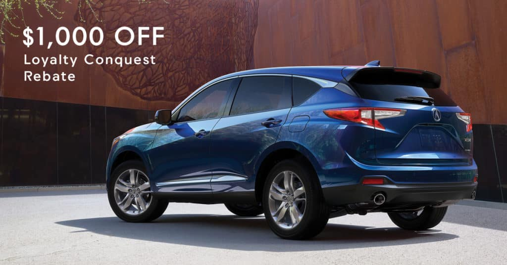 2019 RDX $1000 OFF Lease Loyalty/Conquest Rebate