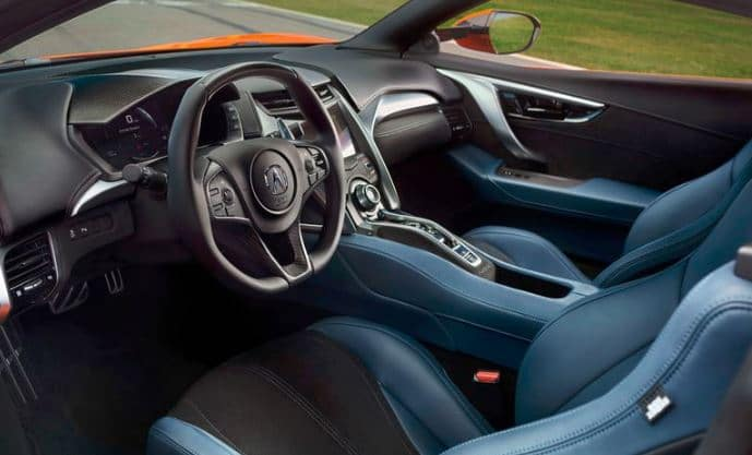 2019 Acura NSX Interior Blue