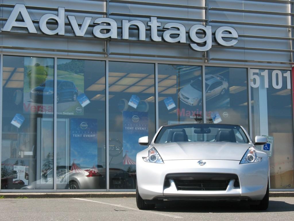 vehicle parked at Advantage Nissan