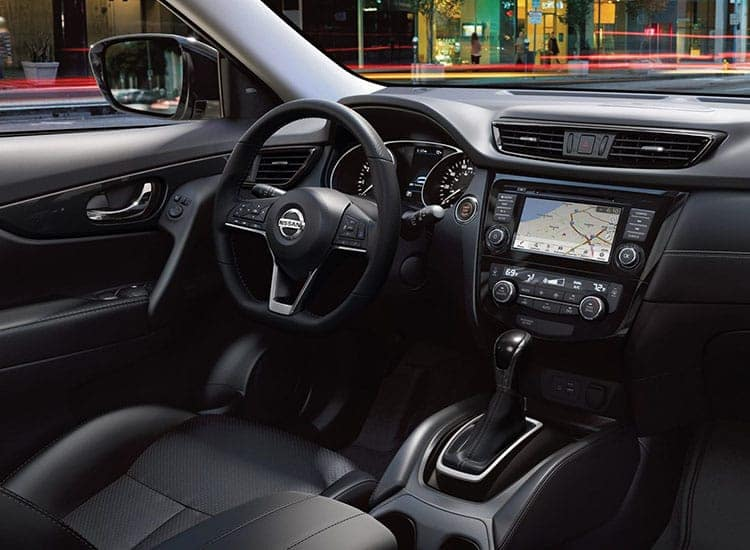2018 Nissan Rogue Black Interior with Dashboard