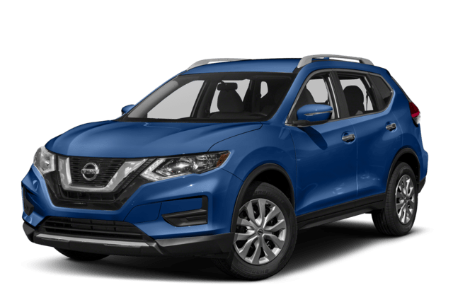 2018 Nissan Rogue Side Angled Blue