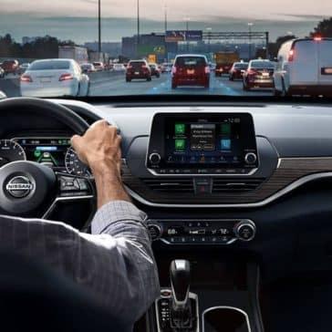 2019-Nissan-Altima-interior-driving-on-street
