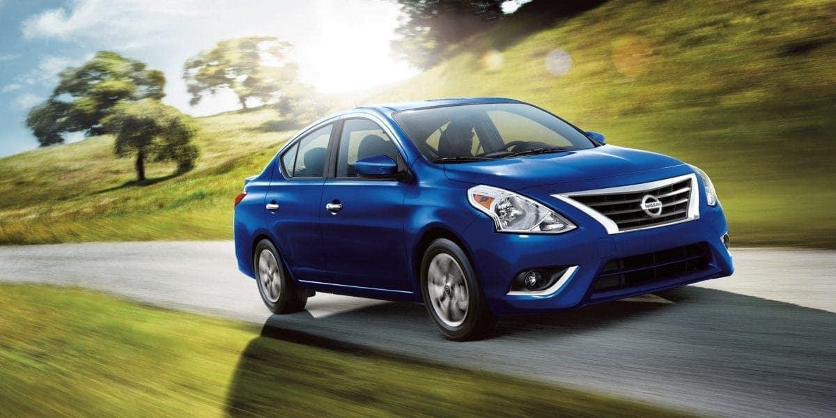 Blue 2019 Nissan Versa