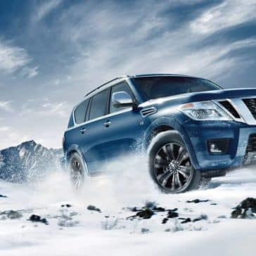 2019 Nissan Armada In Snow