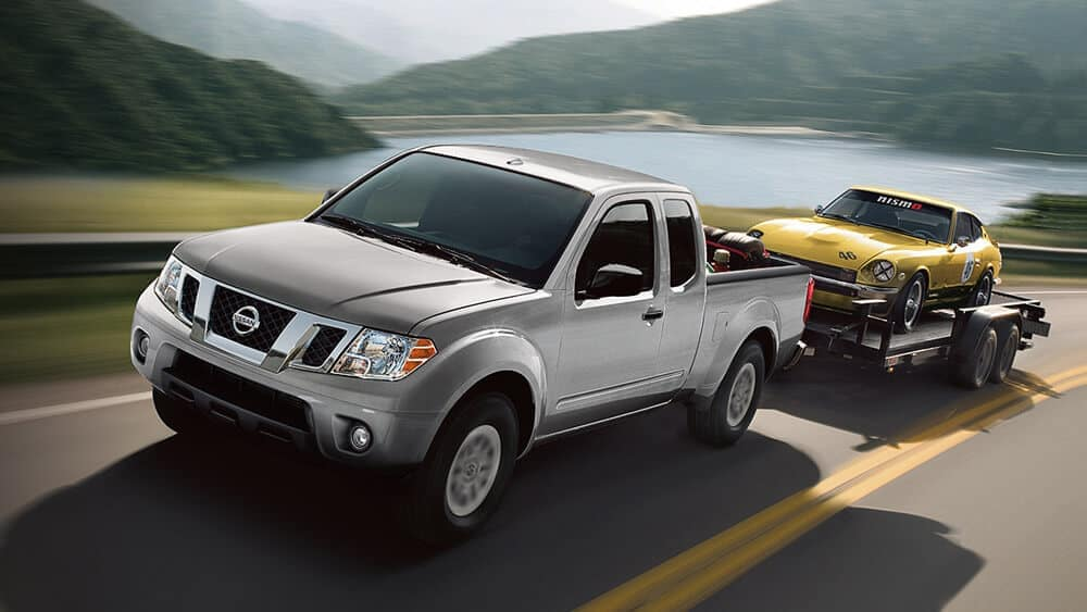 2019 Nissan Frontier towing on the highway