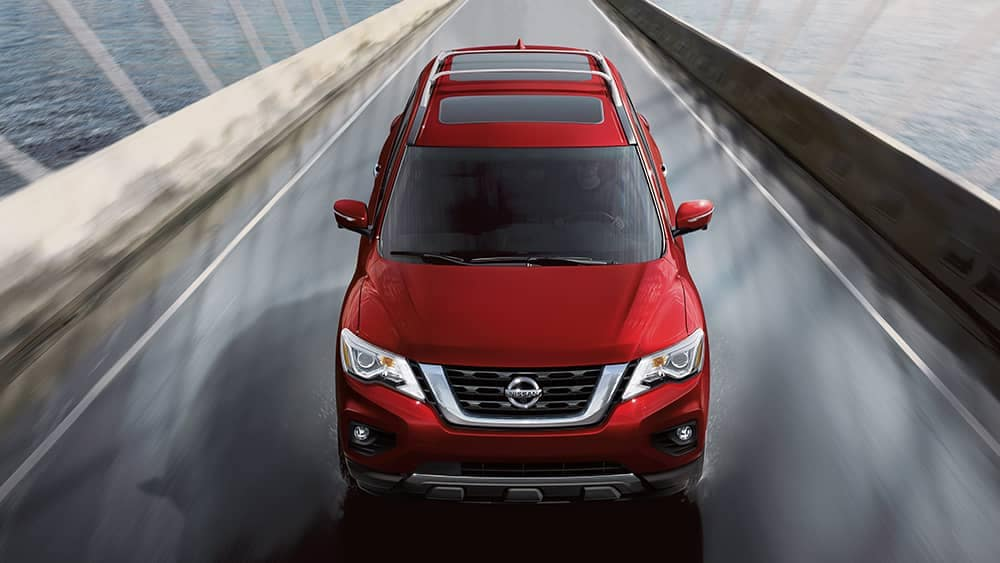 2020 Nissan Pathfinder Crossing Bridge