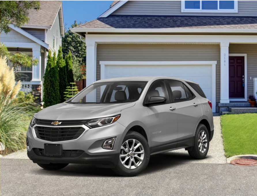 Chevrolet Equinox parked in front of a house