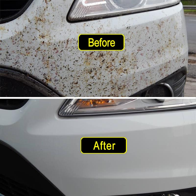 Best Way To Get Bugs Off Front Of Car