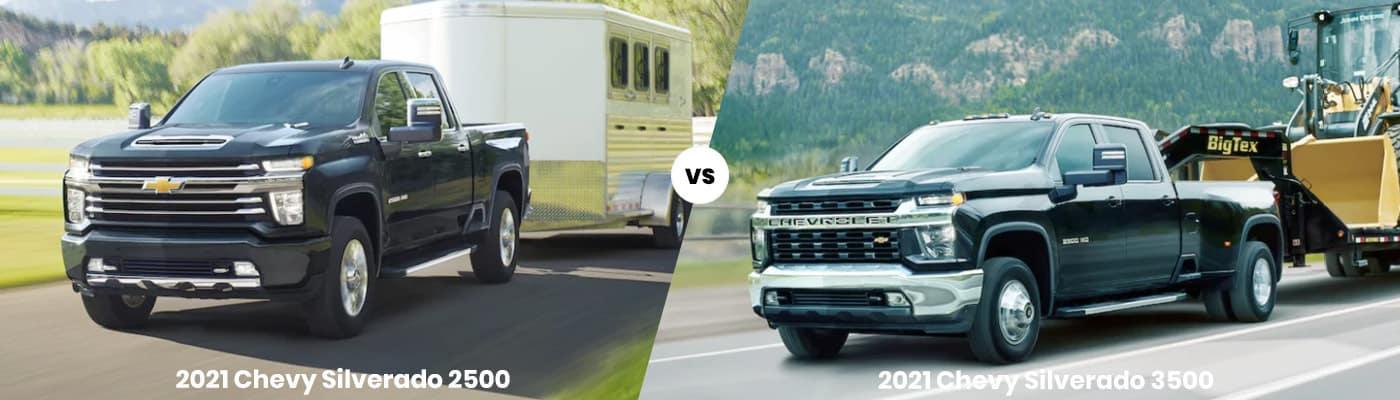 2021 Chevrolet Silverado 2500 vs 3500