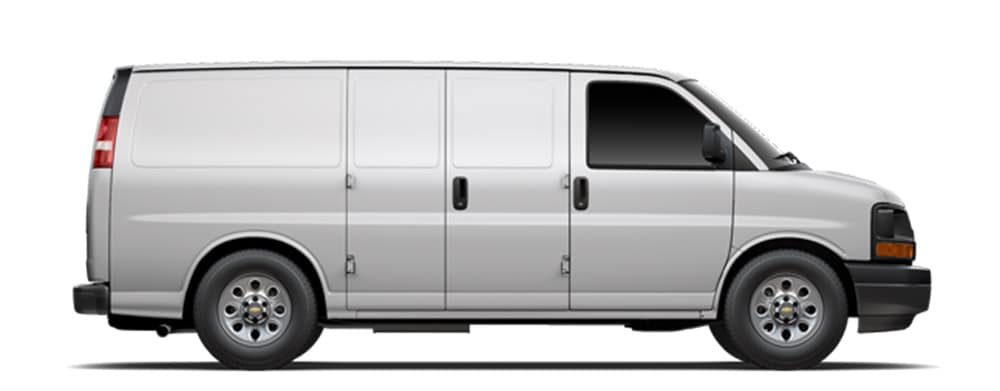 2014 Chevy Express on white