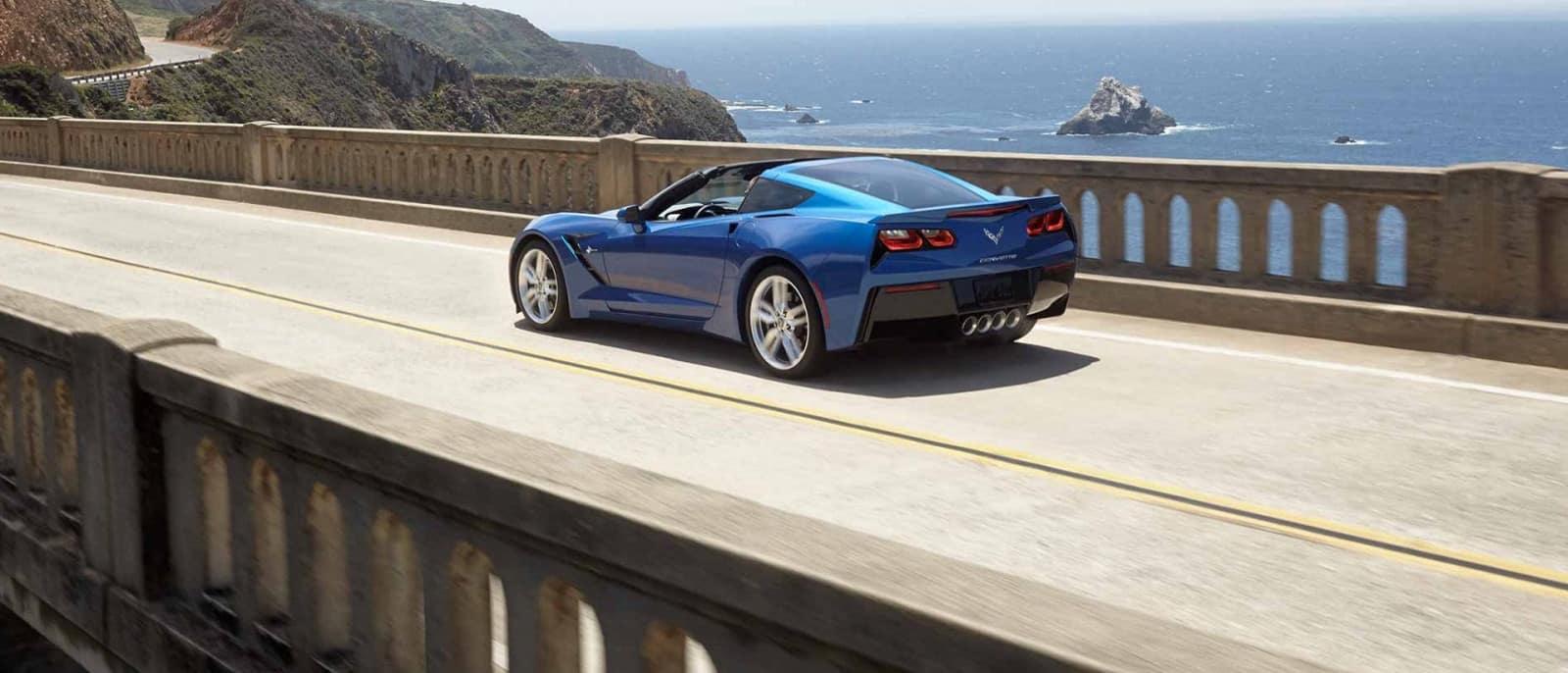 2014 Chevy Corvette Stingray rear side view