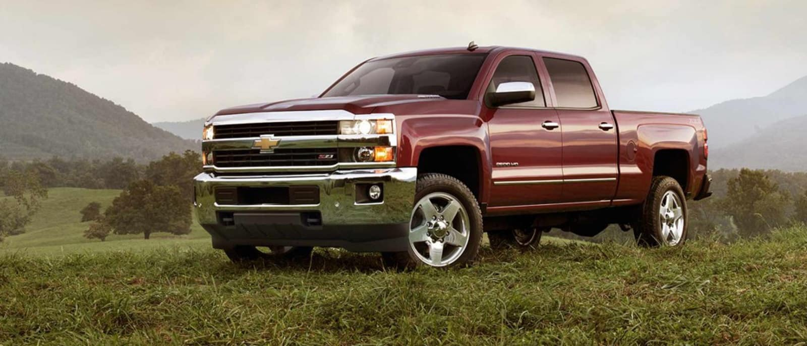 2015 Chevy Silverado front side view.