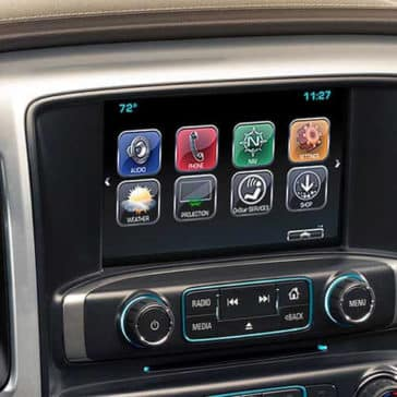 2018 Chevy Silverado 1500 infotainment screen