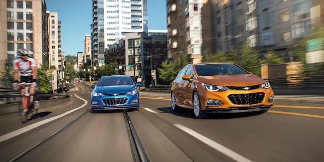 2018 Chevrolet Cruze on road