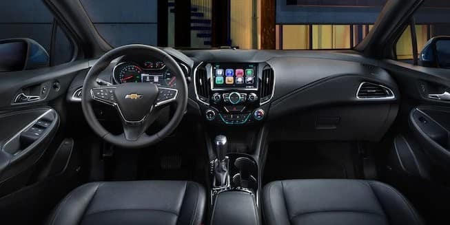 2018 Chevrolet Cruze dashboard with MyLink displayed