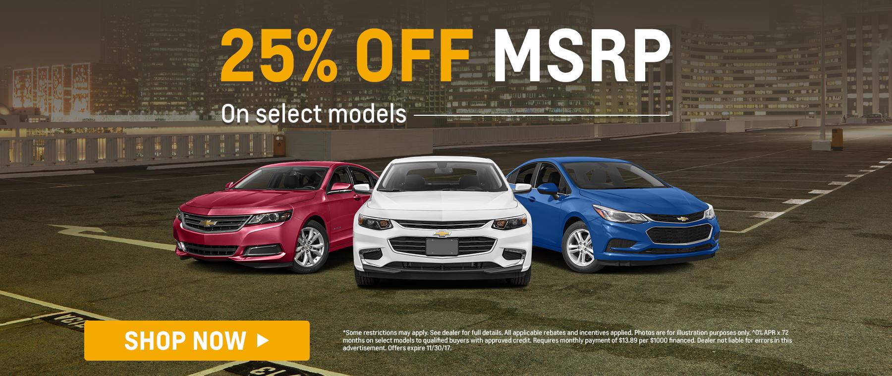 25% Off MSRP