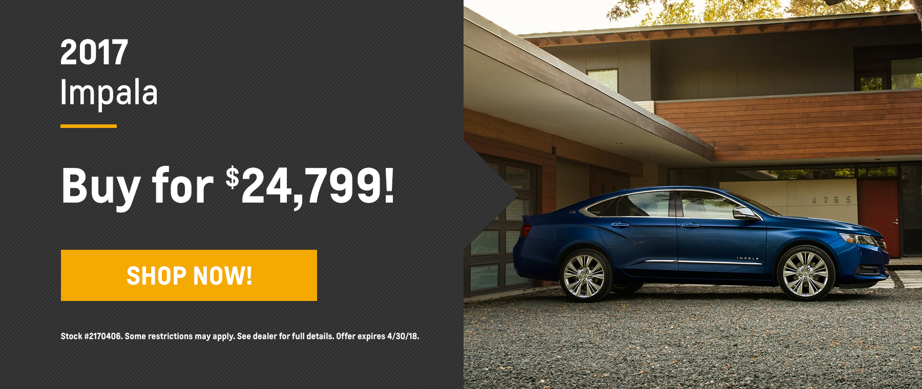 Impala Biggers Chevrolet April Offer Homepage