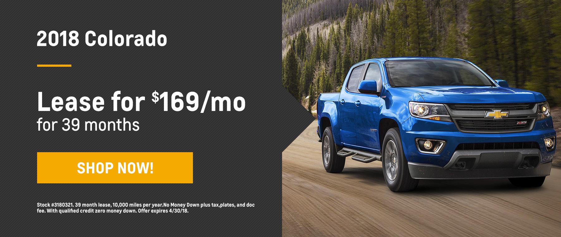 Colorado Biggers Chevrolet April Offer Homepage