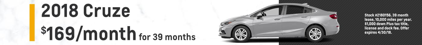 Cruze Biggers Chevrolet April Offer