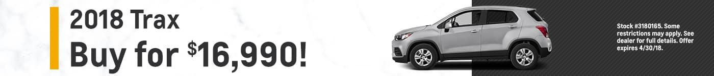 Trax Biggers Chevrolet April Offer
