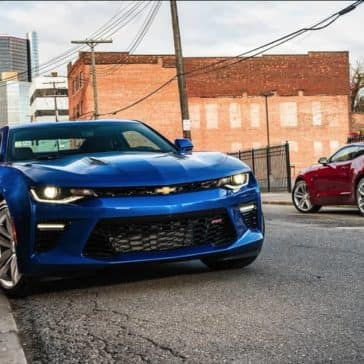 2018 Chevrolet Camaros parked on street