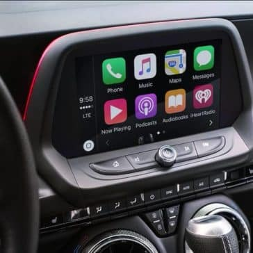 2018 Chevrolet Camaro infotainment screen