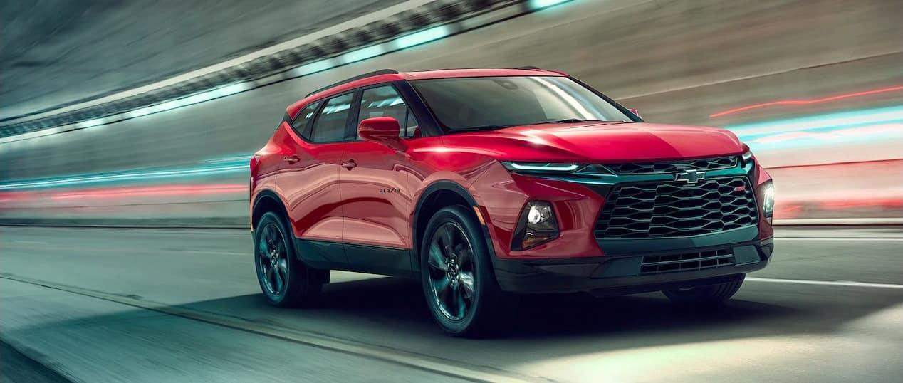 2019 Chevrolet Blazer on road