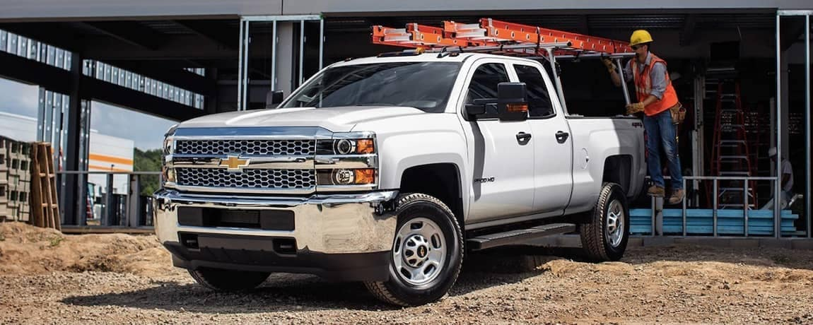 2019 Chevy Silverado 2500HD on construction work site