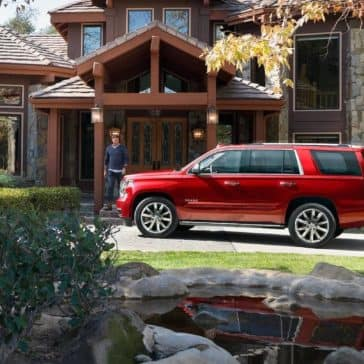 2019 Chevrolet Tahoe parked in front of house