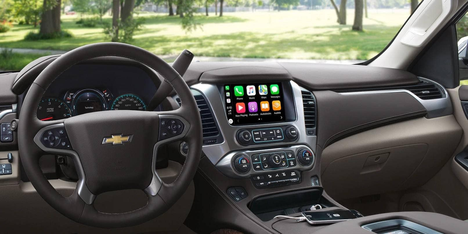 dashboard of 2019 Chevrolet Tahoe