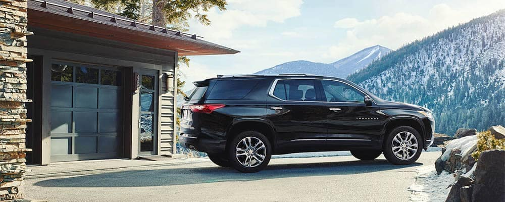 Chevrolet Traverse Parked at Home in Mountains