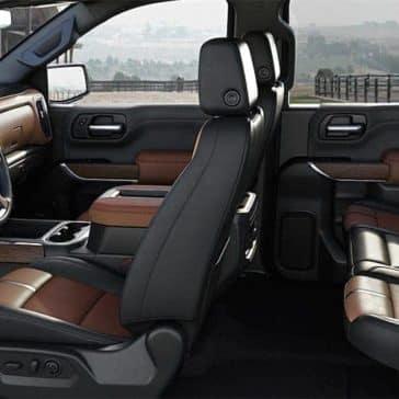 interior cabin of 2019 Chevrolet Silverado 1500