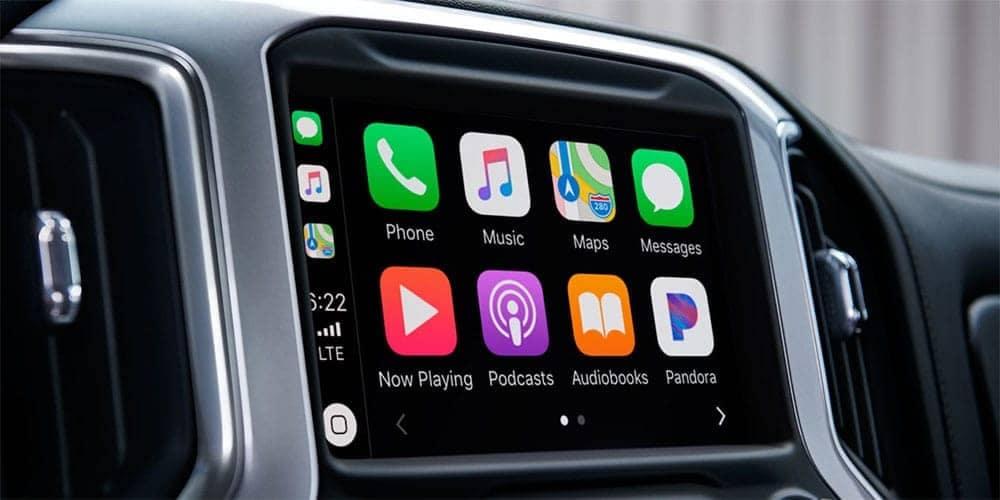 infotainment screen in 2019 Chevrolet Silverado 1500