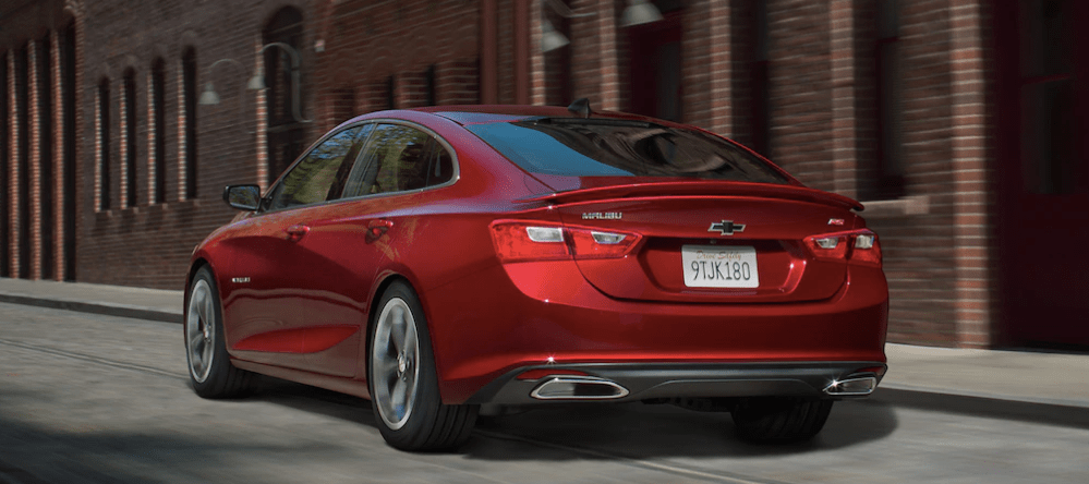 Rear of the 2019 Chevy Impala in Red 2