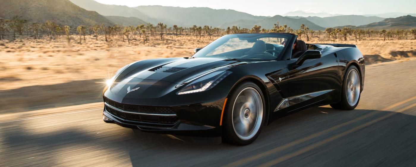 Corvette Stingray Driving In Desert