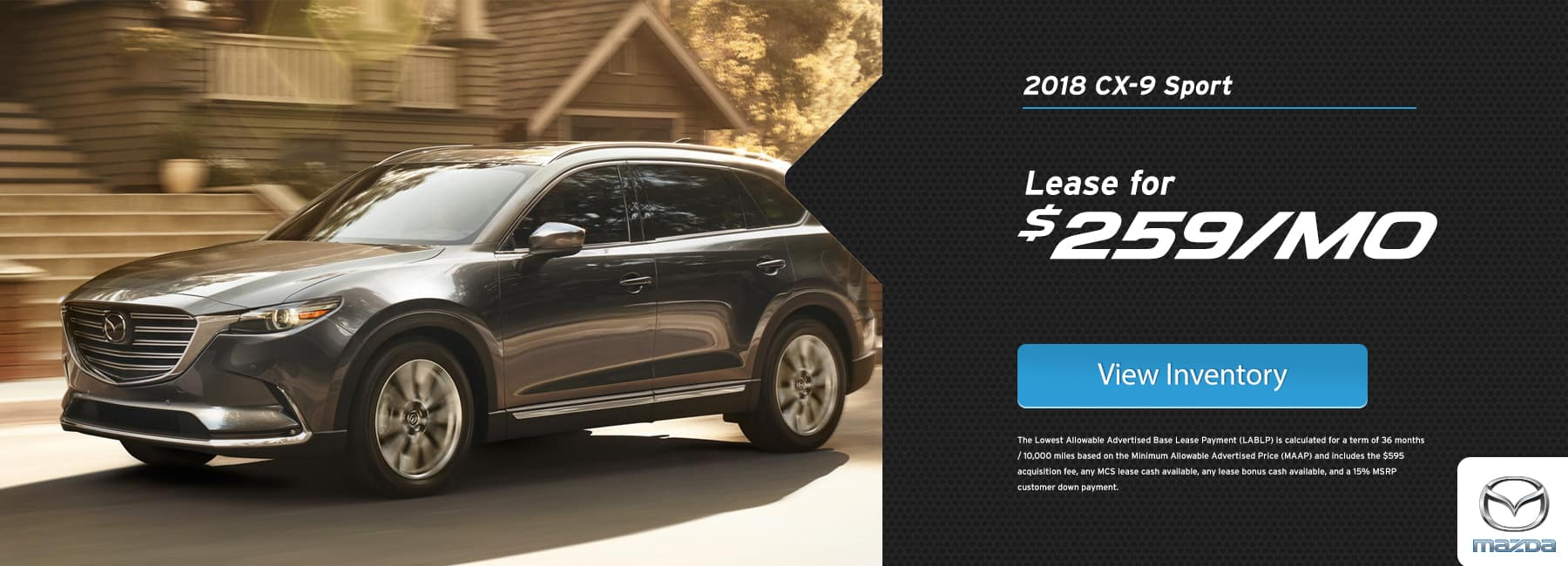 CX-9 Lease Special January