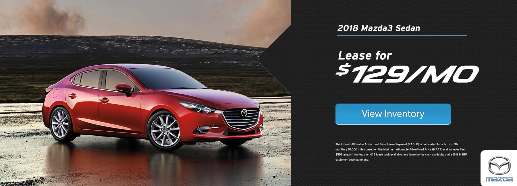 Mazda 3 January Lease Special