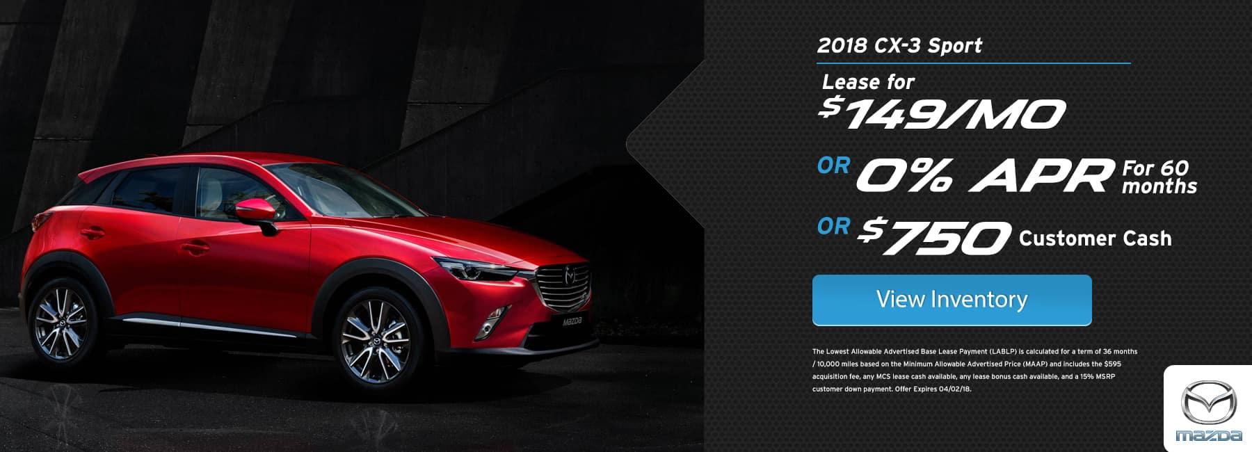 CX3 March Offer BIggers Mazda