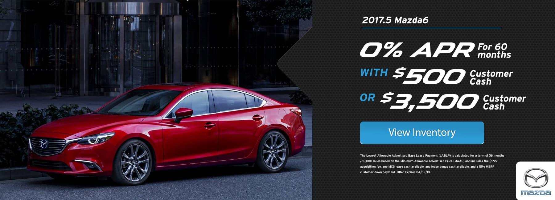 Mazda 6 March Offer BIggers Mazda