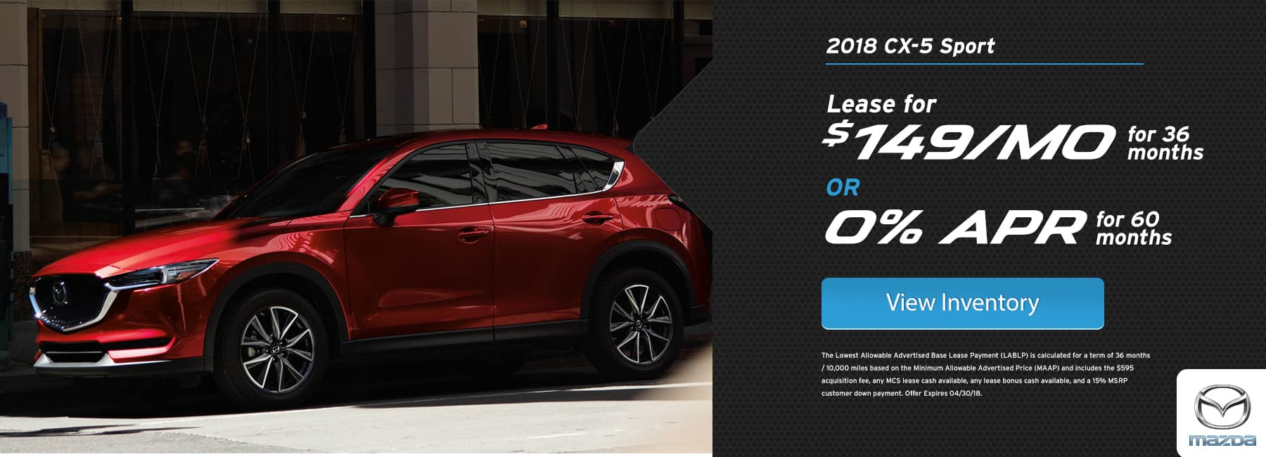 Mazda CX5 April Offer