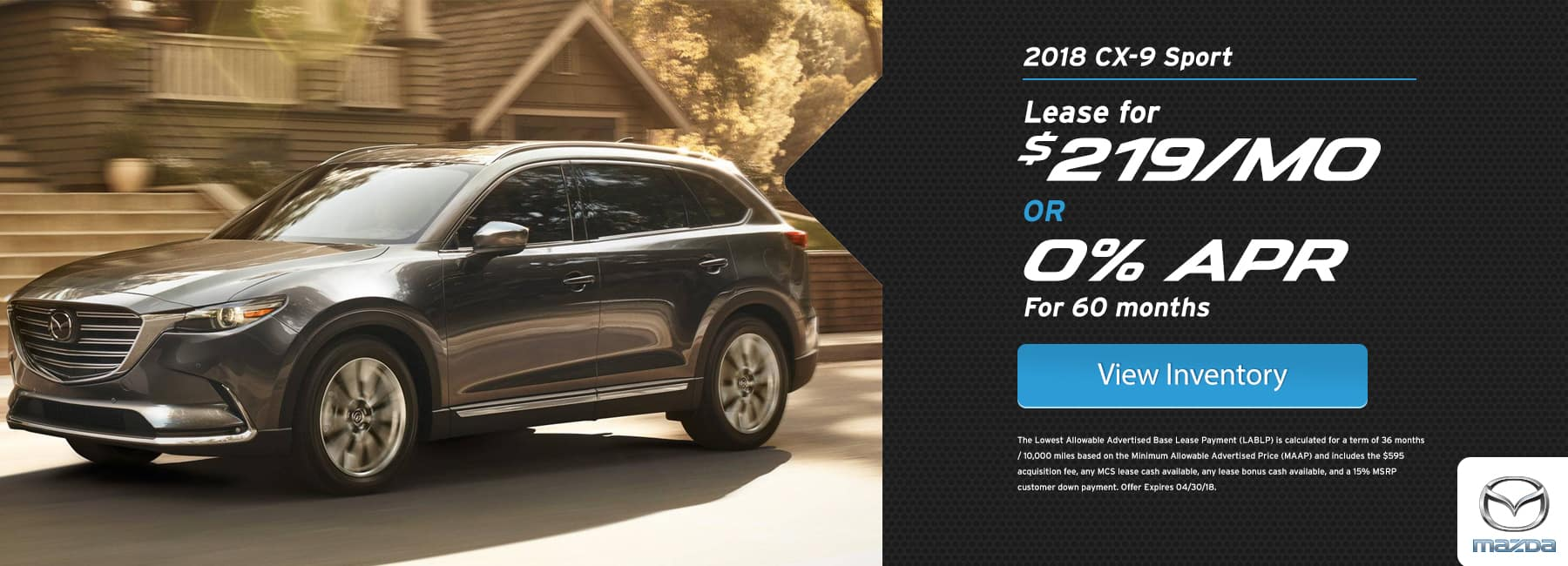 Mazda CX 9 April Offer