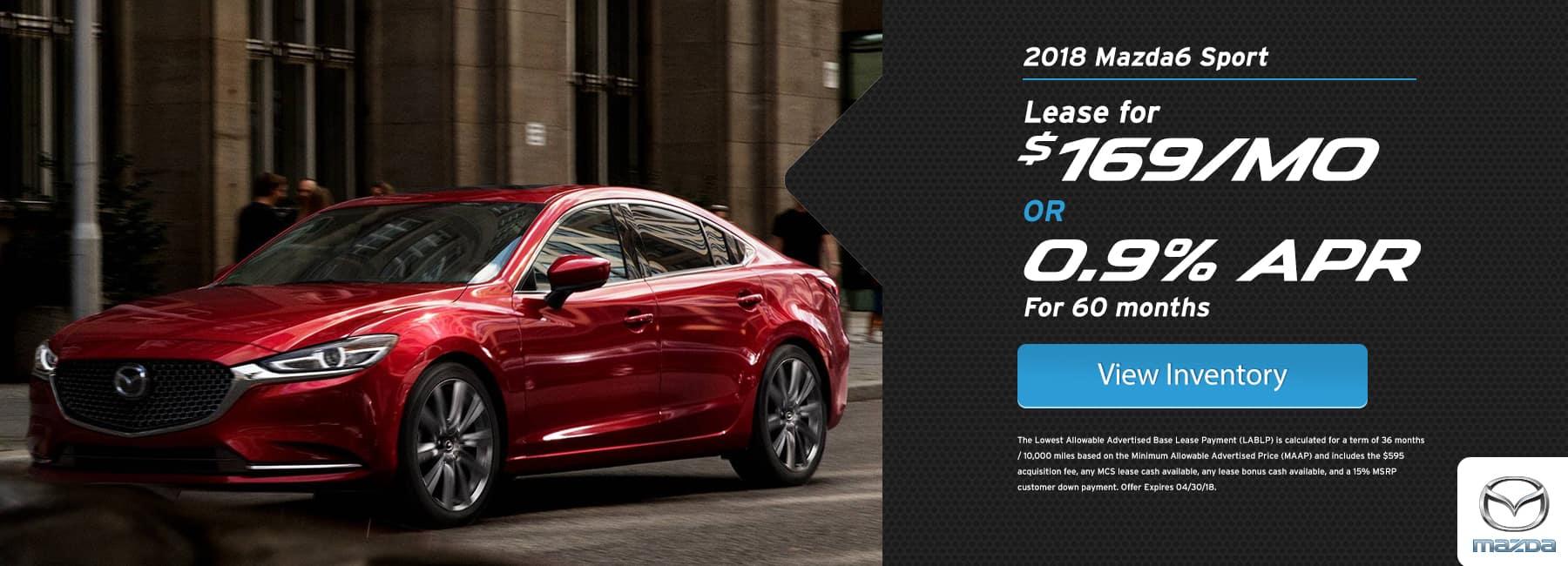 Mazda 6 April Offer