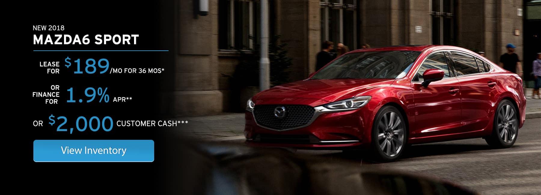 2018 Mazda6 Offer