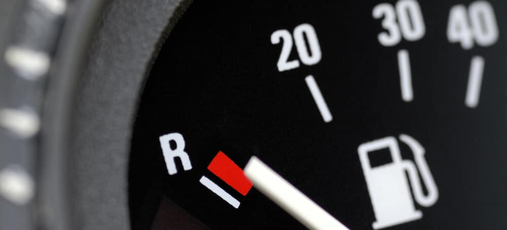 Fuel gauge in a car