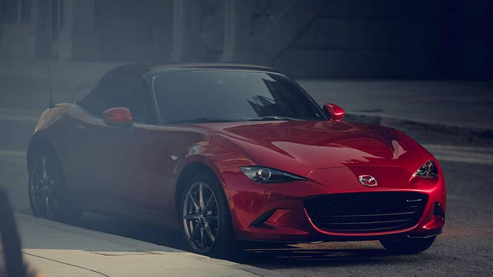 2019 Mazda MX-5 Miata parked in the city