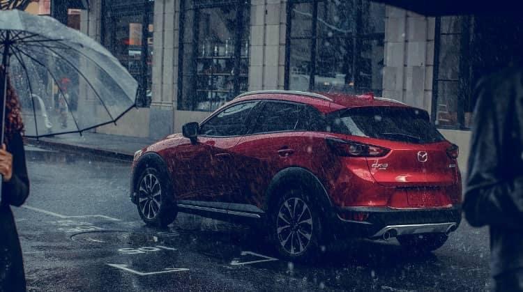 Mazda CX-3 in rain
