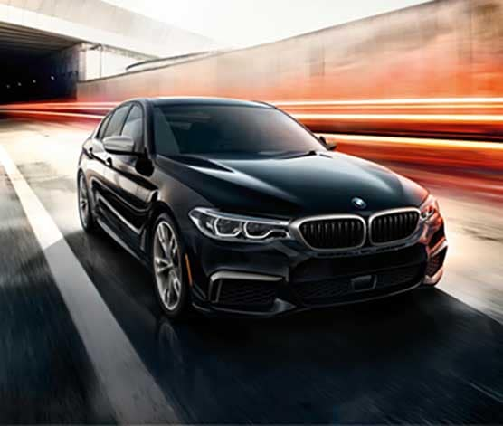 2018 BMW 5 Series in black