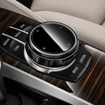 2018 BMW 5 Series console controls