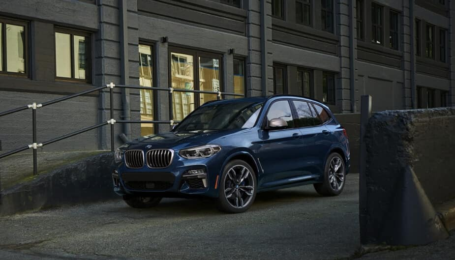 2018 BMW X3 M40i parked on city street