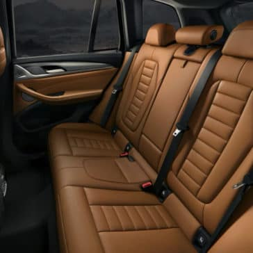 2018 BMW X3 rear seating